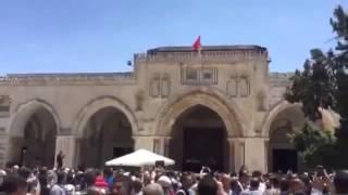Filistinde Mescidi Aksa'ya Türk Bayrağı Asıldı