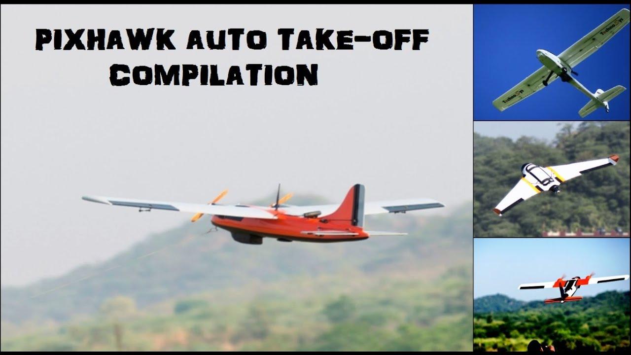 Pixhawk Auto Take Off Compilation - Arduplane