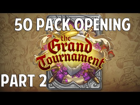 Hearthstone Grand Tournament 50 Pack Opening - Part 2 [Legendaries]