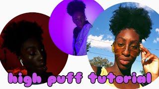 high puff tutorial for medium THICK 4b4c hair nyla niccole