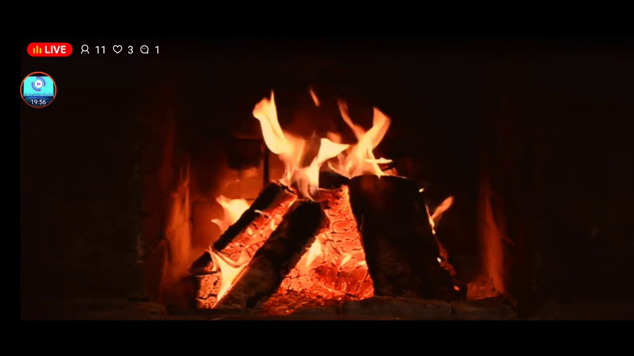 relaxing fireplace live stream 1080p