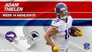 Adam Thielen Snags 105 Yards & 1 TD vs. Carolina! | Vikings vs. Panthers | Wk 14 Player Highlights