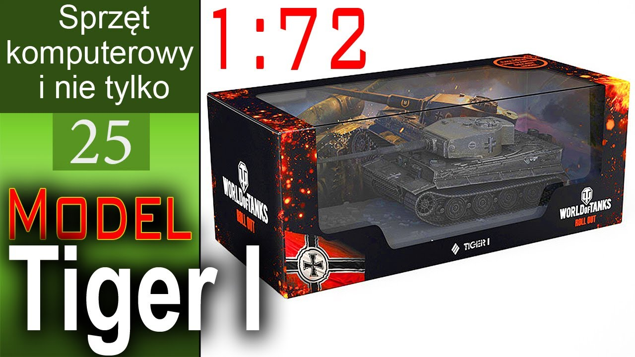 Model Tiger I 1:72 ze sklepu Wargaming – World of Tanks