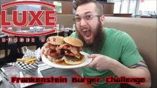 Luxe Burger Bar Frankenstein Burger Challenge