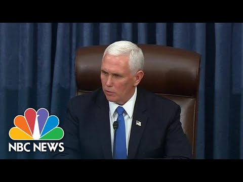 Pence Speaks As Congress Returns After Riots | NBC News