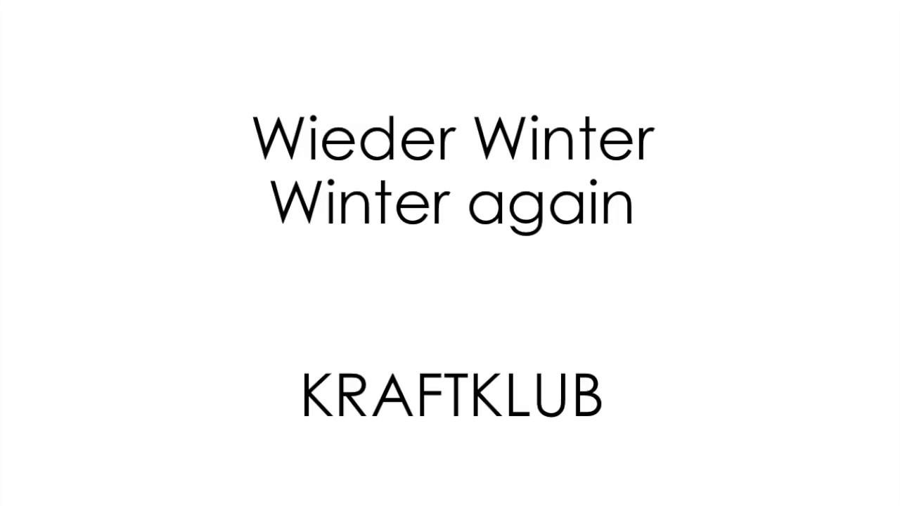 kraftklub wieder winter
