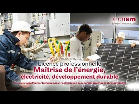 Licence professionnelle : Maitrise de l'énergie - Électricité - Développement durable