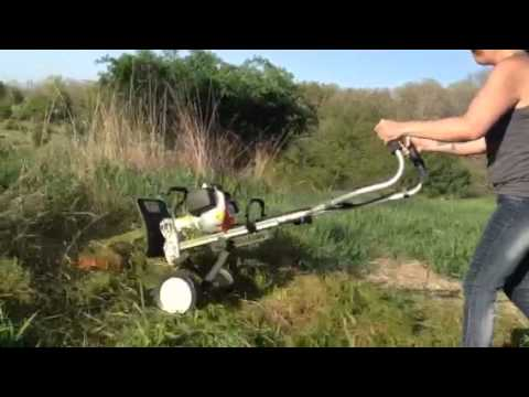Stihl Mm55 Yardboss With Line Attachment Youtube