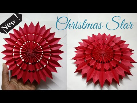 How To Make a Christmas Star    Easy Paper Star    DIY Christmas Decorations   Artbeats