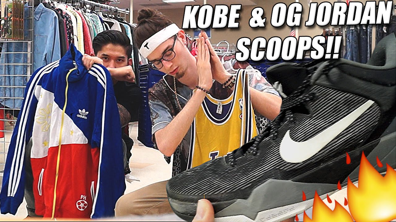 Very Rare $500 Kobe IVs Copped at the Thrift! Sneaker Steals on Draft Day