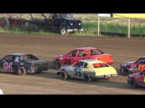 4 Cylinder Heat race #1 at Mt. Pleasant Speedway on 07-27-2018.