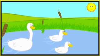 Childrens Songs - Three Little Ducks - Kid's Nursery Rhymes, Music & Songs