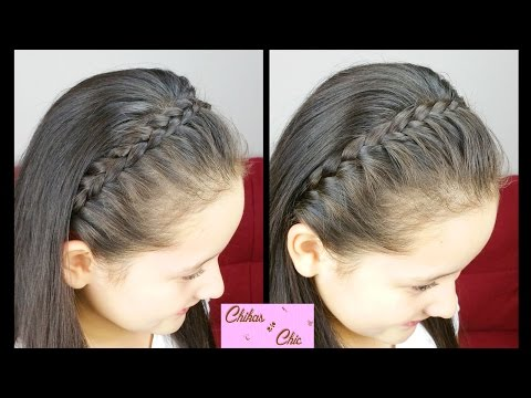 Classic Braided Headband Easy Hairstyles