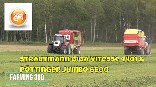 Silage 2018 | Strautmann Giga Vitesse 4401 & Pöttinger Jumbo 6600 in action