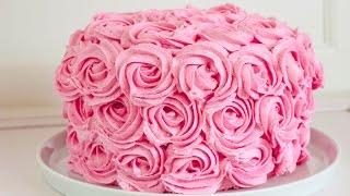 Gül şeklinde Yaş pasta Tarifi - Buttercream Rose Cake