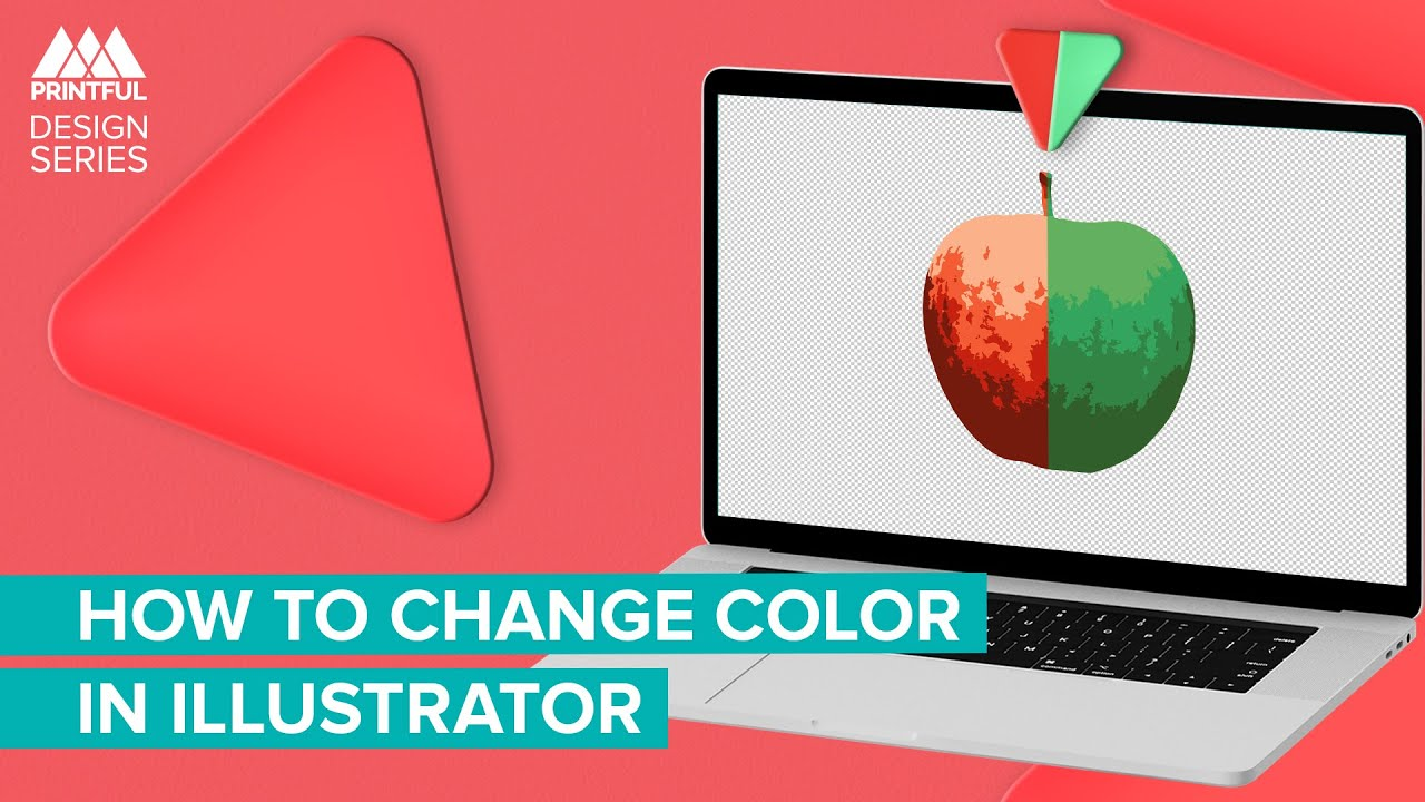 How to Change Colors in Your Design in Adobe Illustrator: Printful Design Series