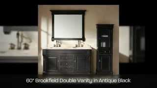 James Martin Solid Wood Bathroom Vanities From Brookfield Collection - Antique Black