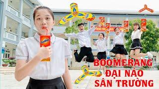 Cao Thủ Ném Boomerang ❤ Quậy Tung Sân Trường - Trang Vlog