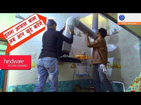 kitchen chimney installation by technician FULL VIDEO with DEMO