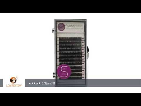 CHOOSE LENGTH Premium C curl 0,20 (10mm) eyelash extensions by SVANS - Korean silk lashes - Soft,
