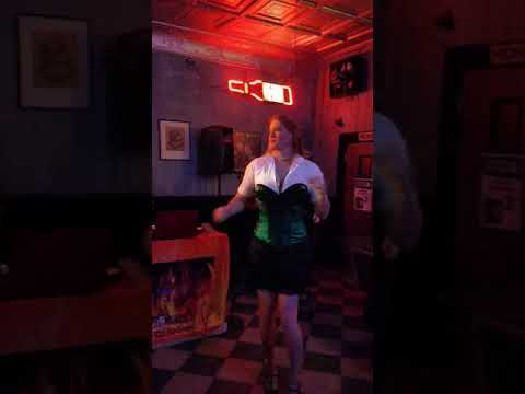 Jordan at the 80'S show at Clinton street pub sings Working 9 to 5