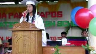 joyce anne montoya valedictory address 2009