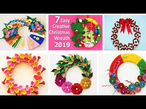 7 DIY Easy Christmas Wreath Ideas You have never seen before! Easy X-Mas decoration crafts