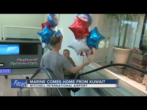 Marine comes home from Kuwait