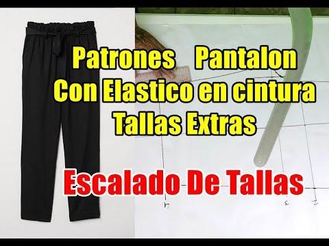 Patrones Pantalon De Dama Tallas Extras Y Escalado De Tallas Youtube