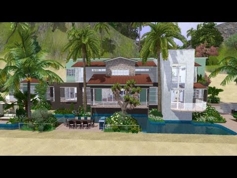 The Sims 3 House Building - The Kingfisher Villa  |  DutchSims 3 Master