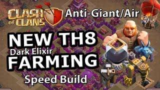 TH8 Dark Elixir FARMING Base (Anti Giant Air) - Speed Build Clash of Clans 2015