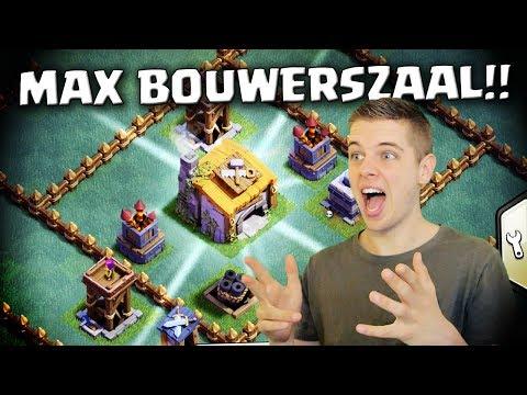 MAXIMAAL LEVEL BOUWERSZAAL!! CLASH OF CLANS NEDERLANDS