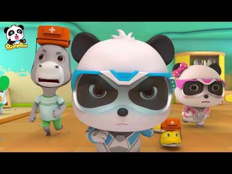 Misión de Rescate del Terremoto   Súper Panda Héroes   Dibujos Animados Infantiles   BabyBus