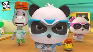 Misión de Rescate del Terremoto | Súpre Panda Héroes | Dibujos Animados Infantiles | BabyBus