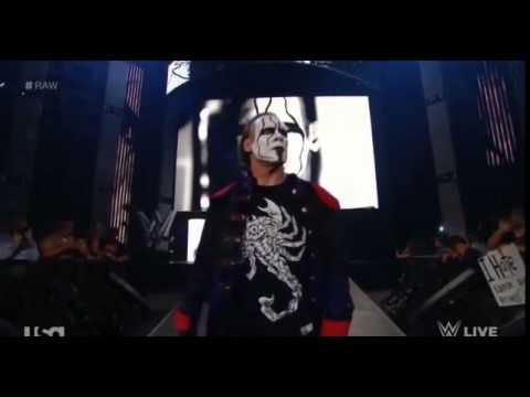 Sting's Entrance on WWE RAW - 3/23/15 HQ