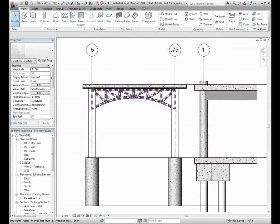 Autodesk Revit Structure: Creating Frame Modeling - YouTube
