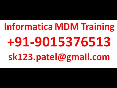 Informatica MDM Interview Preparation Project Explanation And Resume Formatting