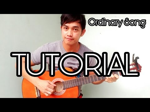 (Tutorial)Ordinary Song - Guitar fingerstyle - Part 1