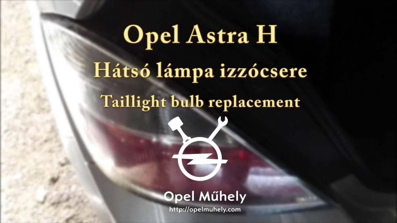 Opel astra h tompított izzó cseréje