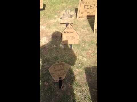 Verb Cemetery @ Coeburn Middle School