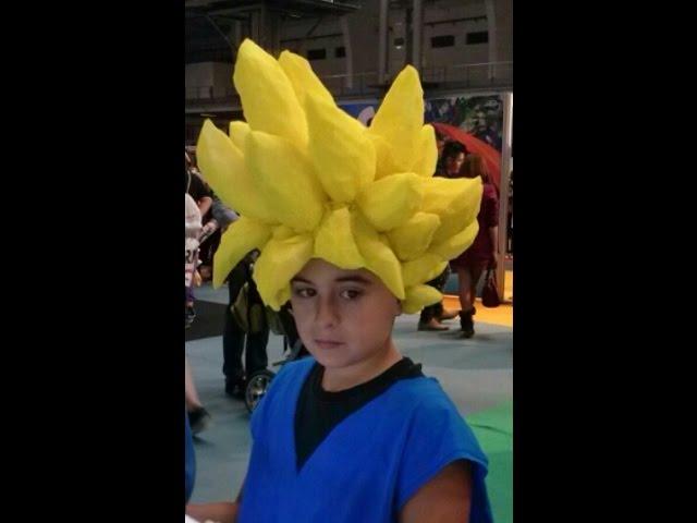 Cómo Hacer Una Peluca Goku Wig How To Make A Goku Wig Youtube