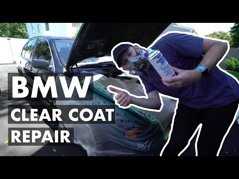 How to Repair Faded Peeling Damaged BMW Clear Coat