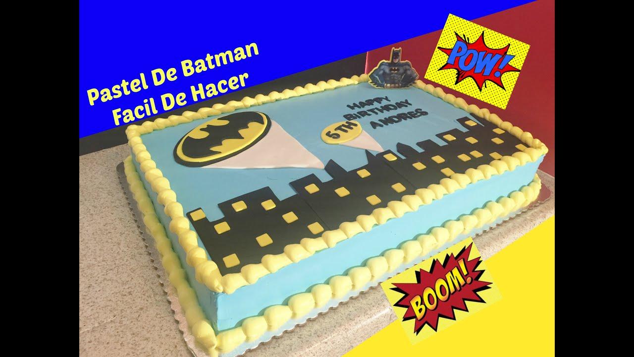 Cómo Decorar Un Pastel De Batman Fácil #1