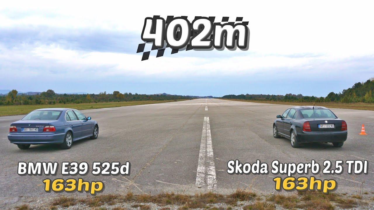 Download 402m: BMW E39 525d vs Škoda Superb 2.5 TDI