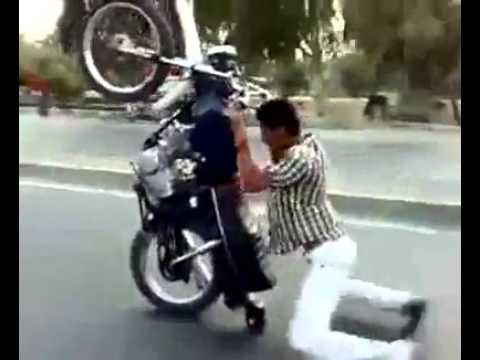 motorcycle comedy pictures  funny clip:Crazy Motor bike Rider.mp4 - YouTube
