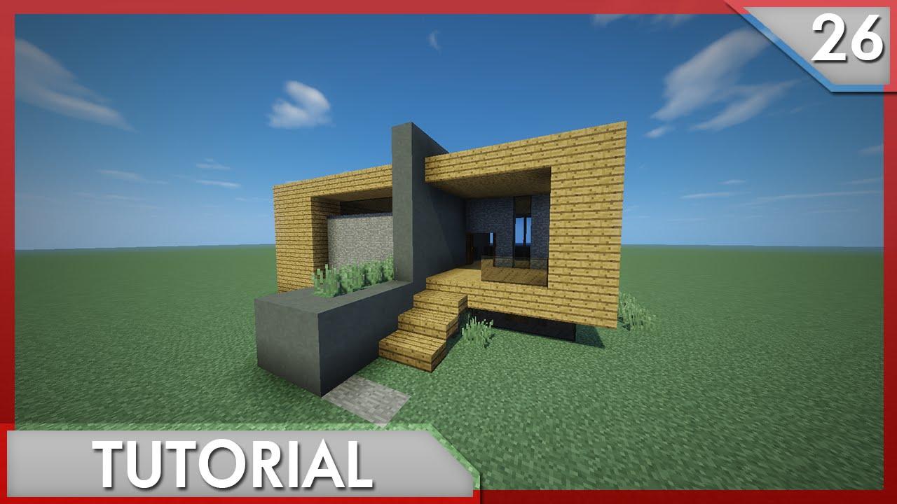 Minecraft como hacer una casa moderna para survival for Casa moderna survival minecraft