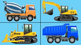 Learning to Count Construction Vehicles - Counting Bulldozers, Excavators, Dump Trucks for Kids