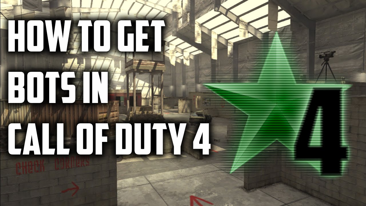 How to get Bots in Call Of Duty 4 | Pezbot Mod |