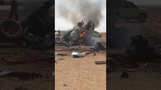 وفاة ١٢ شخص على طريق الرياض - الرين - بيشة