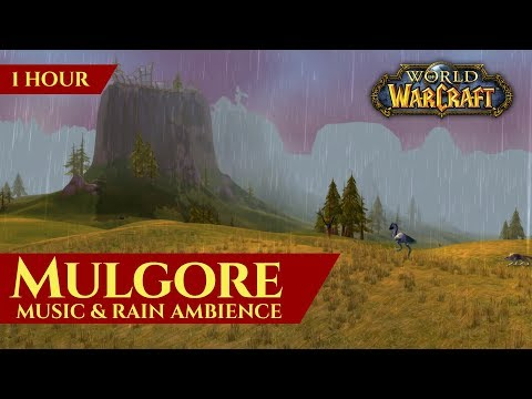 Vanilla Mulgore - Music & Rain Ambience (1 Hour, 4K, World Of Warcraft Classic)